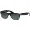Ray-Ban New Wayfarer 2132 6052 5218 Top Black on Transparent/Green