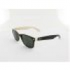 Ray Ban New Wayfarer RB2132 875 55 top black on beige / crystal green
