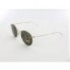 Ray Ban Round Metal RB3447 001 50 gold / green