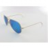 Ray Ban Aviator Large Metal RB3025 112/17 58 matte gold / crystal green blue